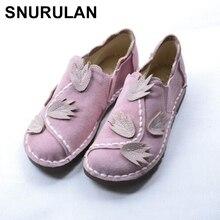 SNURULAN National wind handmade Genuine leather shoes,litera