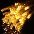 Multicolor 10 M Estrellado de Hadas 100 LED Luces de Cadena Lámpara de La Decoración Del Banquete de Boda de Vacaciones de Navidad Con Pilas