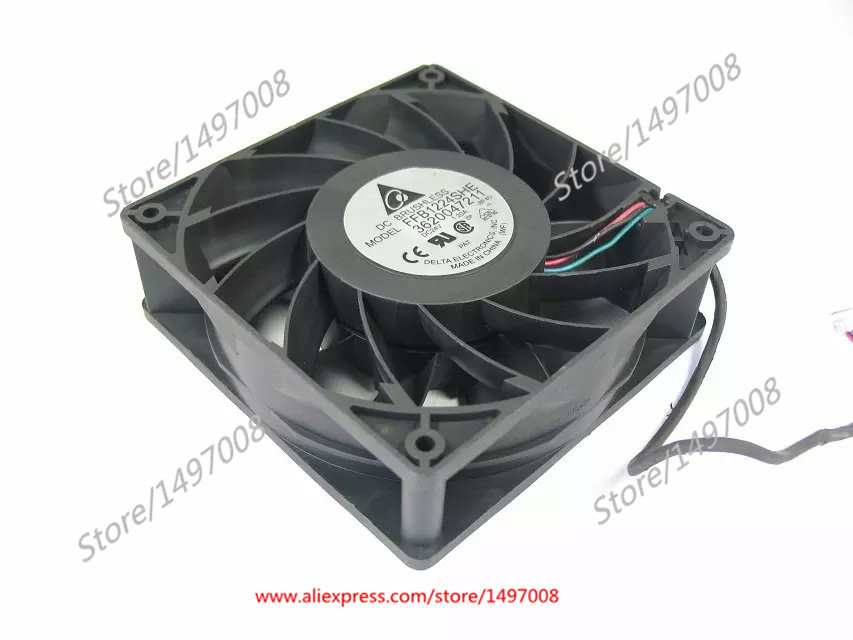 Free Shipping For DELTA  FFB1224SHE, -8F40 DC 24V 1.20A 3-wire 3-pin connector 110mm 120X120X38mm Server - Square fan free shipping for delta afc0612db 9j10r dc 12v 0 45a 60x60x15mm 60mm 3 wire 3 pin connector server square fan
