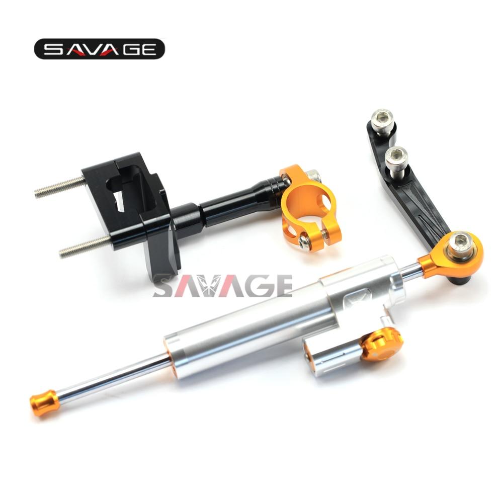 For KAWASAKI EX250R NINJA 250 08-13, NINJA 300 13-16 Motorcycle Steering Damper Stabilizer Adjustable Linear with Bracket Kit C зимняя резина r 13