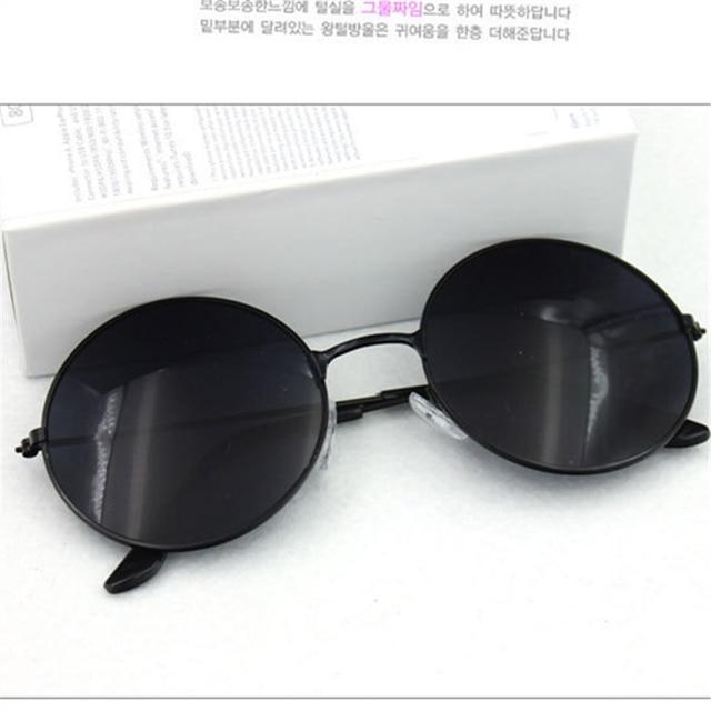 Beautiful Vintage Round Mens Women Sunglasses Retro Female Male Gold Sun Glasses Women's Men's Glasses