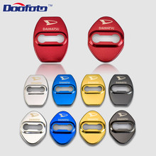 Doofoto Car Styling Auto Door Lock Decoration And Protection Cover Case For Daihatsu Terios Charade Mira Accessories Car-Styling