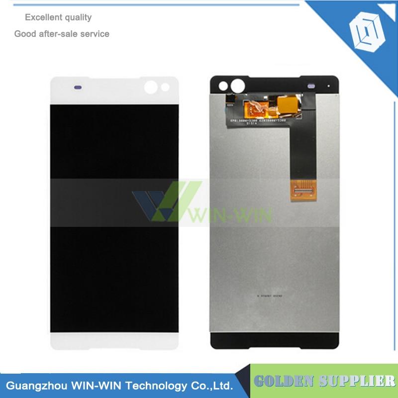 ФОТО 5pcs/lot New Full LCD DIsplay + Touch Screen Digitizer Assembly For Sony Xperia C5 Ultra E5506 E5533 E5563 E5553 Lcd Screen