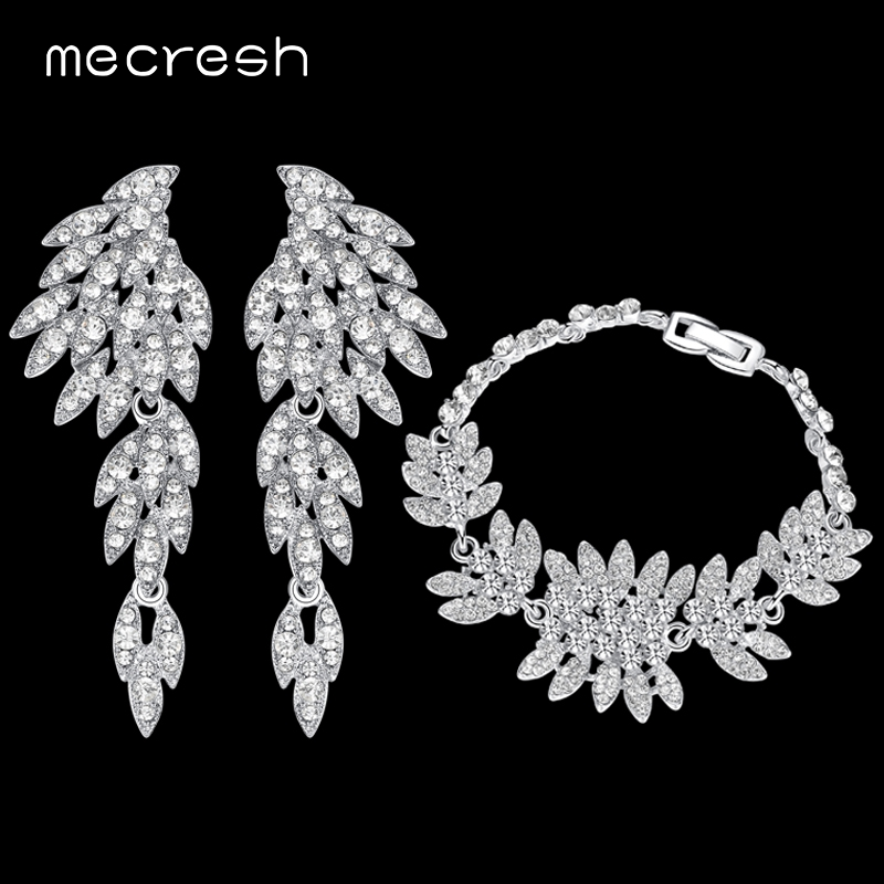 Mecresh Crystal Bridal Jewelry Sets for s