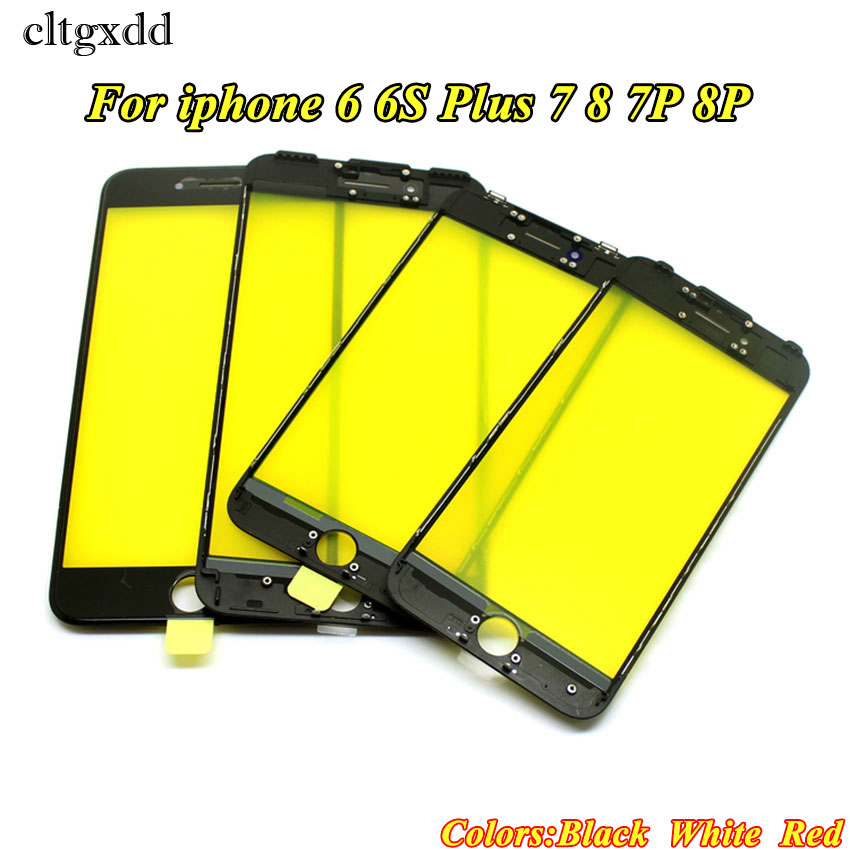 cltgxdd A+ Cold Press Replacement LCD Front Touch Screen Glass Outer Lens with frame for iphone 8 7 6 6s plus image