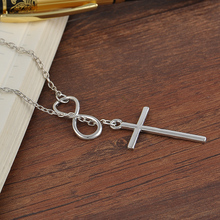 Chain Pendant Cross Fashion Necklaces Silver For Women Jewelry Gift
