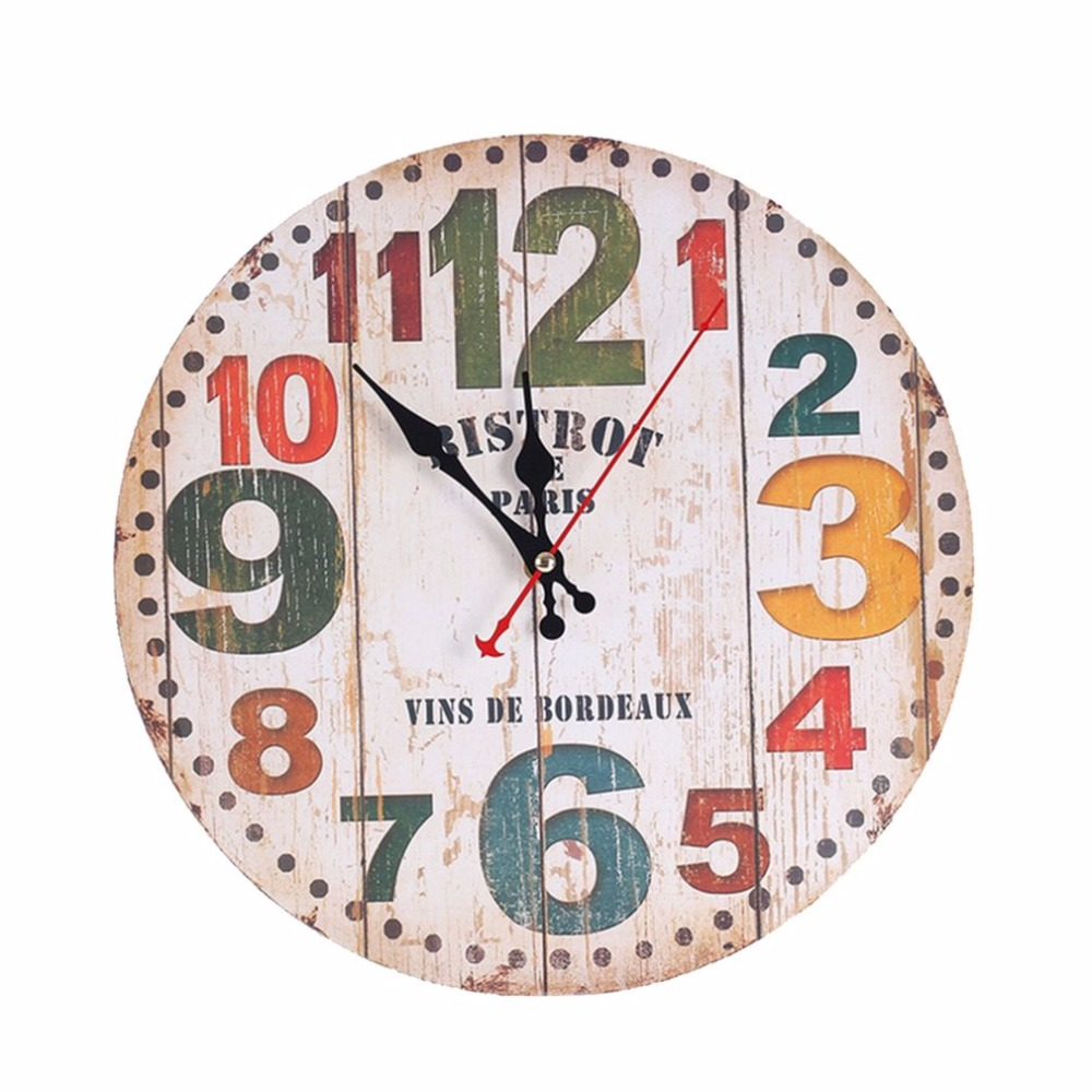 30cm European Style Wall Mounted Clock Bedroom Sitting Room Home Hang  Adornment Wall Clocks Home Decoration 2 Types