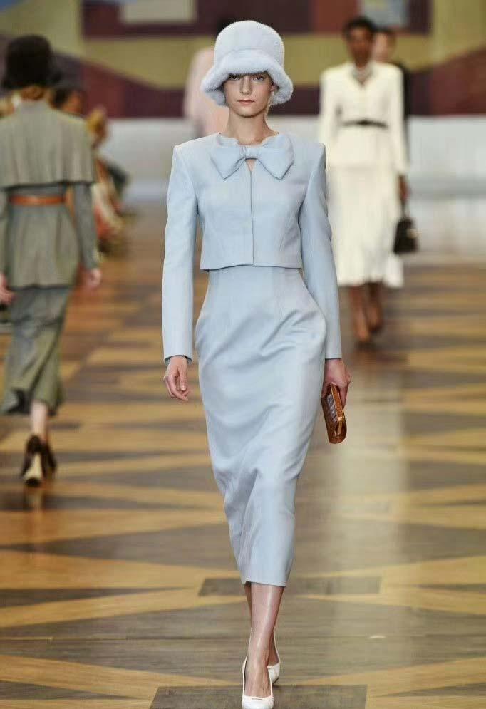 Fashio temperament 2 piece set women elegant autumn skirt set simple and generous conjumtos de mujer ensemble femme clothes