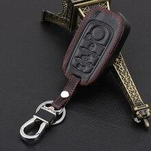 VCiiC obudowa kluczyka do samochodu pokrywa dla Fiat 500X Toro Tipo Egea 3 przycisk uchwyt zdalnie sterowany odwróć składany skórzany ochraniacz dla Dodge Neon Key