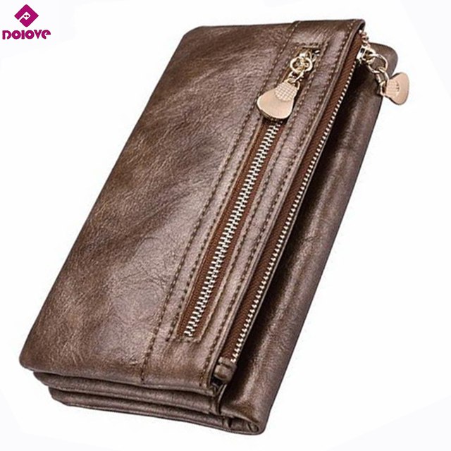 DOLOVE Premium Leather Clutch Wallet for Women