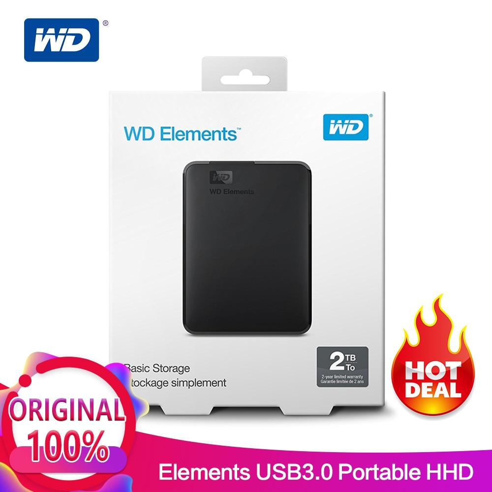 Western Digital WD Elements Portable hdd Externo 2.5 USB 3.0 Disco Rígido de 500 gb 1 tb tb 2 4 tb Original para PC portátil