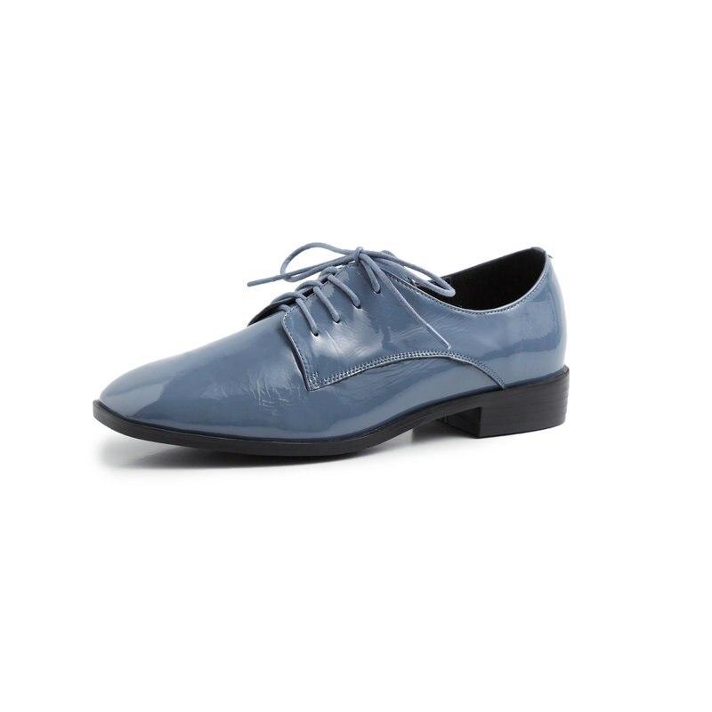 Eshtonshero 봄 여성 신발 여자 펌프 특허 가죽 낮은 발 뒤꿈치 광장 발가락에 슬립 클래식 숙 녀 웨딩 신발 크기 3 11-에서여성용 펌프부터 신발 의  그룹 2