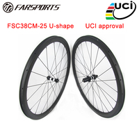 High performance 38mm 25mm road bicycle wheelsets for sprinting assembling DT350 hub and Sapim aero spokes high end wheelsets