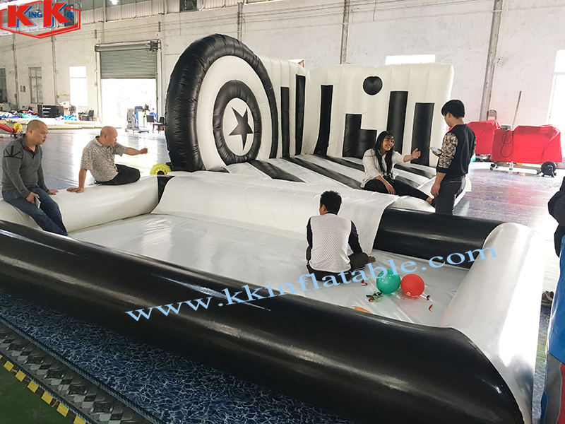 Black & White Inflatable Castle Amusement Park For Children's Playground,Piano Theme Inflatable Bouncer