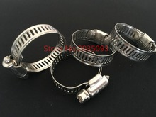 5pcs/lot 304 Stainless Steel Large size Hose Cl&s Pipe Clips Air Water Tube : large stainless steel hose clamps - www.happyfamilyinstitute.com