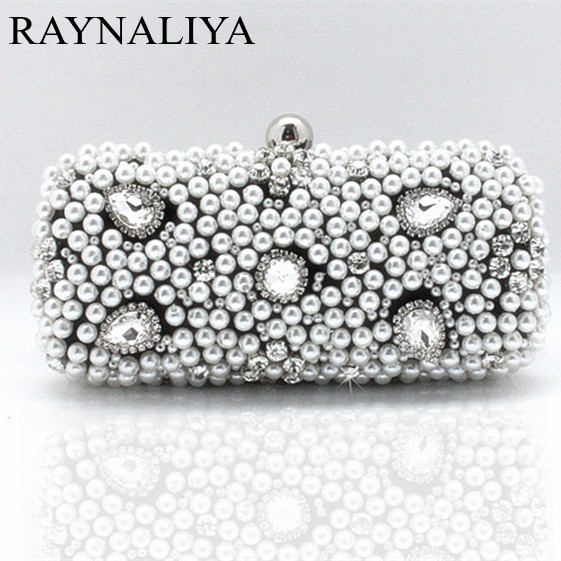 2017 Luxury Ladies Evening Hand Bag Women Diamond Beading Handmade Dinner Clutch Bridal Wedding Party Purse SMYSFX-E0075 ladies wedding dress bridal crystal clutch bag women diamond dinner banquet evening purse silver metal clutches smyzh f0300