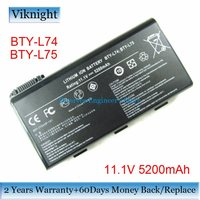 For New MSI A6200 A6000 CR700 BTY L74 BTY L75 Replacement Battery