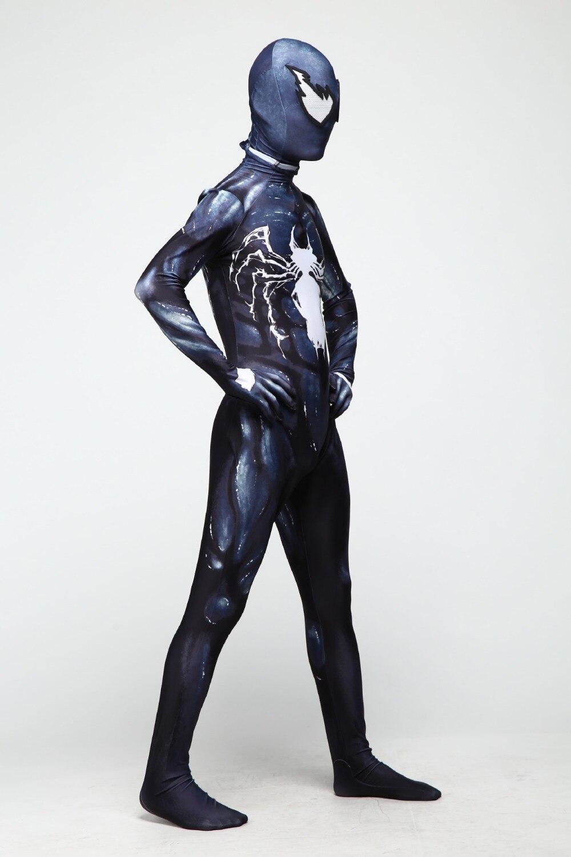 New Era Spider Man Venom Costume Adult Child Cosplay Anime Avengers 4 Zentai Leotard Set Jumpsuit halloween costumes in Zentai from Novelty Special Use