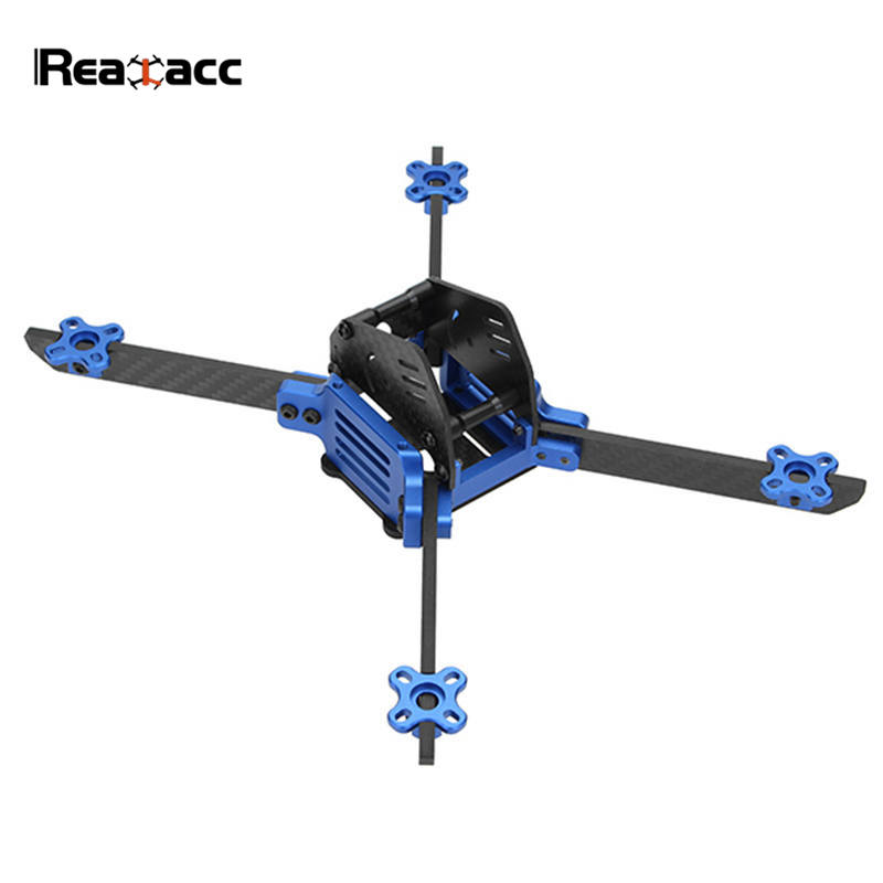 Realacc MiG 215mm Wheelbase 4mm Arm Carbon Fiber Frame Kit for RC Drone FPV Racing Quadcopter realacc kt100 100mm carbon fiber frame kit for rc quadcopter multirotor fpv camera drone x type frame accessories purple