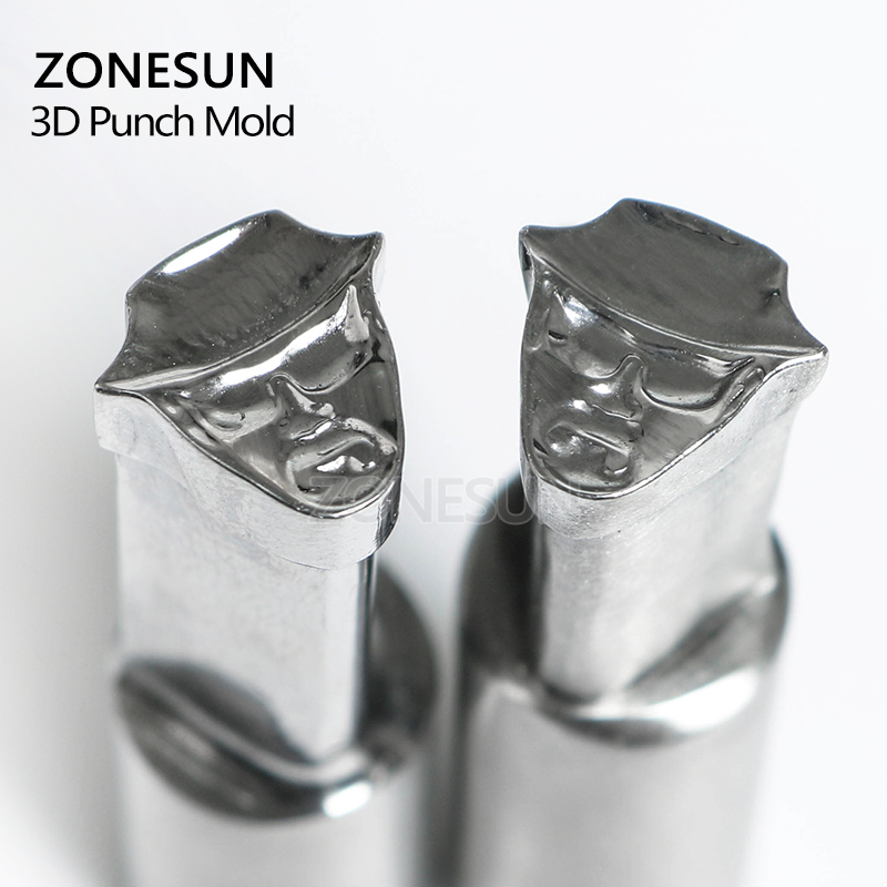 ZONESUN Man with hat sugar candy milk tablet Press 3D Punch Mold Candy Milk Punching Die Custom Logo punch die TDP 5 Machine