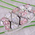 """Free Shipping Fashion Jewelry Mixed Faceted Beads Stretch Crystal Bracelet 7""""  1Pcs H754"""