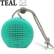 Teal Splashproof Shower Speaker Bluetooth Wireless Portable Waterproof Speaker with 3W Drive Suction Cup Buit-in Mic for Iphone