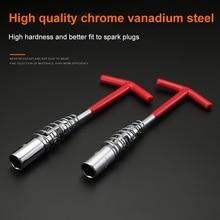 1 Pcs Flexible Spark Plug Removal Tool Socket Wrench Installation Head T-Bar LB88