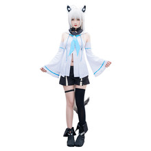 hot sale!!! anime cosplay costume cos Little Fox Hooded top+pants Lovely Loli suit Full sets A