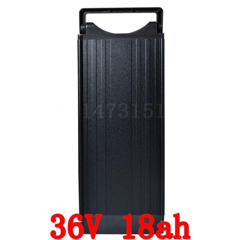 36 v 1000 w batteria 36 V 18AH batteria elettrica della bici 36 V batteria al litio con la luce di coda 18AH e 42 V 2A del caricatore di trasporto libero