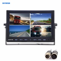 4CH 4PIN DC12V 24V 10 Inch 4 Split Quad LCD Screen Display Color Video Security Monitor