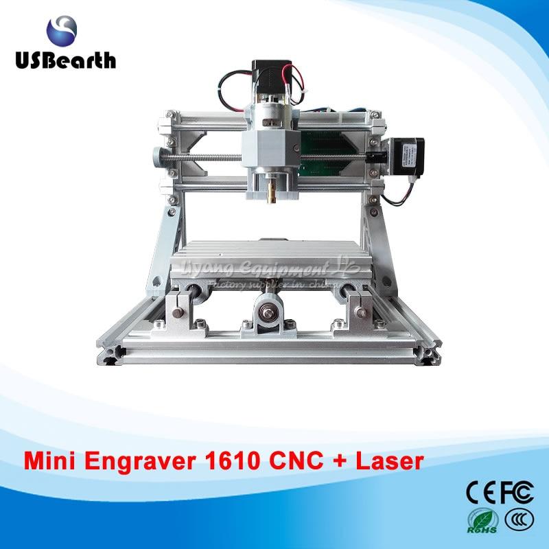 Mini CNC 1610 + 500mw laser CNC engraving machine Pcb mini Milling machine with GRBL control mini cnc 1610 pro cnc engraving machine pcb milling machine with grbl control