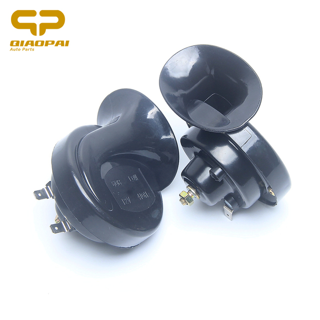 1 pair Electric Horn 12V 510hz Universal Car Snail Horn high low tone Motorcycle Horn Loud Whistle Voice Sound bang Modified