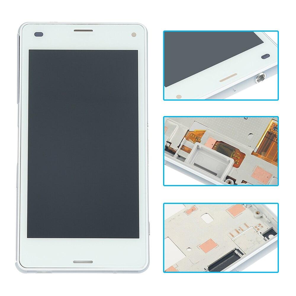 """imágenes para 4.3 """"pulgadas LCD Blanco Para El Mini Sony Xperia Z3 Compacto D5803 D5833 Pantalla LCD de Pantalla Táctil con Digitalizador + Capítulo del bisel"""