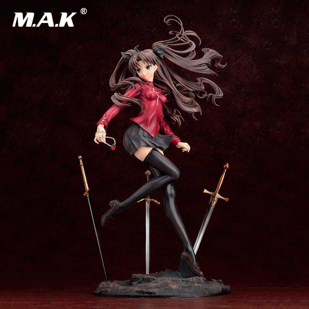 Collectible Anime Figure Fate/Stay Night Archer Tohsaka Rin 25cm Sexy PVC Action Figure Doll Brinquedos Collection Model gonlei anime figma 223 fate stay night archer pvc action figure collectible model toy 15cm s131