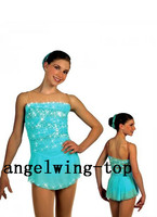 womenice skating dresses green blue figure dresses girls competition ice dress hot sale ice dance skating dress free shipping