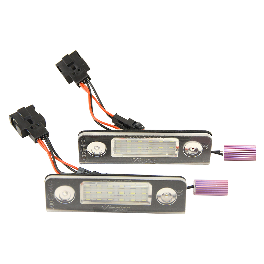 2Pcs Car LED License Plate Lights 12V SMD3528 VW Number Plate Lamp Canbus Bulb Kit For Volkswagen Skoda Octavia 1Z Roomster 5J donolux подвесной светильник donolux s111013 1b black