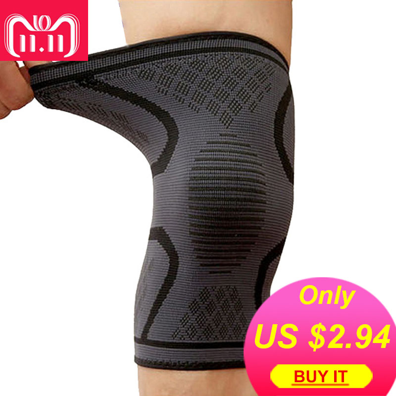 AOLIKES 1PCS Breathable Basketball Football Sport Safety Kneepad Volleyball Knee Pads Training Elastic Knee Support Knee Protect 1 pair breathable elastic knee pads cycling running basketball football legwarmers sports training knee support brace