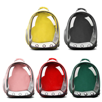 Dog Cat Transparent Space Capsule Breathable Shoulder Bag Pet Outside Travel Portable Carry Backpack Dogs Cat Carrying Cage