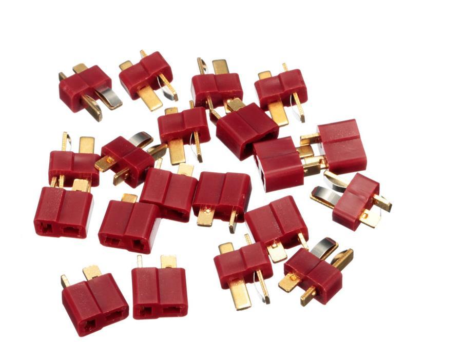 20 pièces/10 paires T Plug Deans connecteurs pour RC LiPo batterie hélicoptère mâle et femelle connecteur Kit d'assortiment