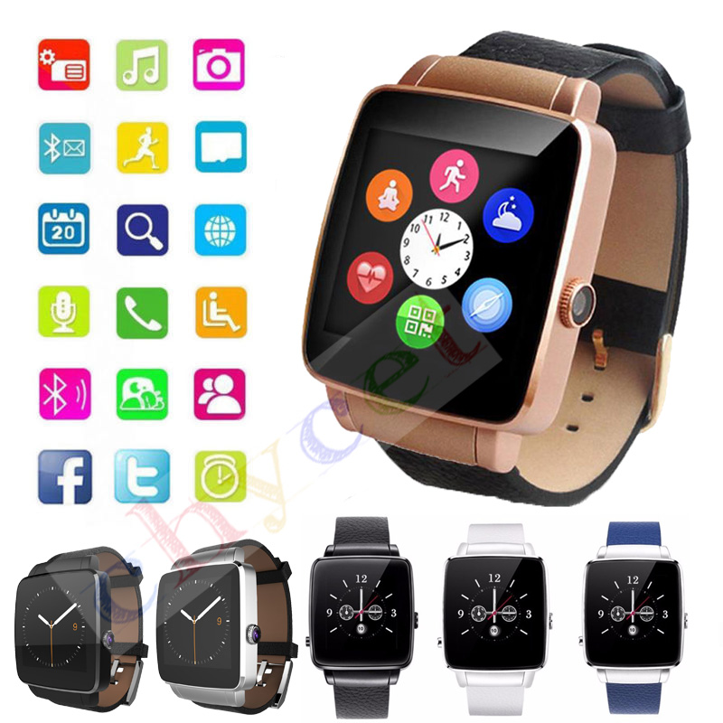 2016 Bluetooth Smart Watch X6 font b Smartwatch b font sport watch For iPhone Android Phone