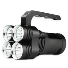 SkyFire Супер Мощный 4xT6 СВЕТОДИОДНЫЕ Прожектора, Лампы Наружного Освещения с 4×18650 Аккумулятор для Туризм Отдых Поисковые Спасения
