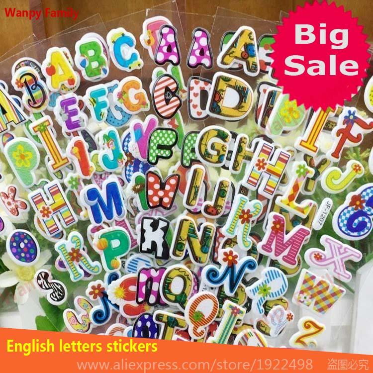 10 листов/комплект английские буквы наклейки для детей формирующего образования игрушки наклейки детская английского языка наклейки