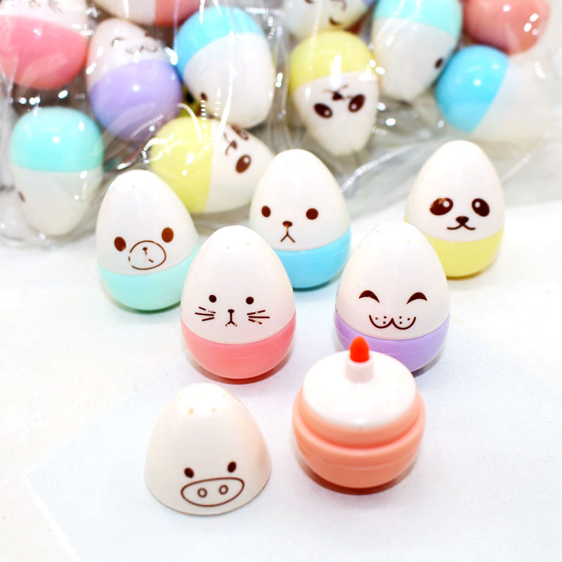 6 Pcs Mini Smile Egg Candy Banana Highlighter Pens Marker Pen Cute Stationery Material Escolar Papelaria Writing School Supplies