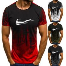 2019 New summer shirt cotton gym fitness men t-shirt brand clothing Sports t male print short sleeve Running shirtM-4XL