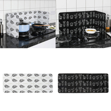 Креативная алюминиевая фольга, защита от брызг, защита от брызг масла, щит для кухни, инструмент для приготовления пищи, черный, белый, растительный узор, Декор