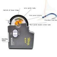 Nível Anzol Ferramenta Tyer Dispositivo elétrico Automático Máquina de Subordinação dispositivo de Linha de Pesca Isca Gancho Tyer Nó de Gravata Amarrar Máquina peixe