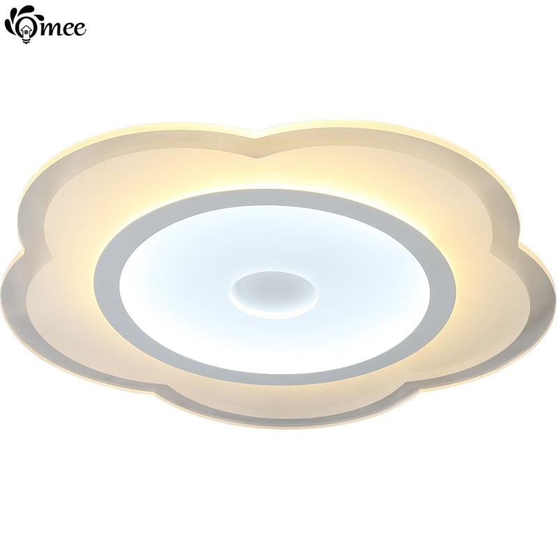 ФОТО New Ultra-Thin Acrylic Flower Ceiling Light Circle Rose Modern Led Living Room Lamps Warm Sweet Decoration Luminarias Bedroom