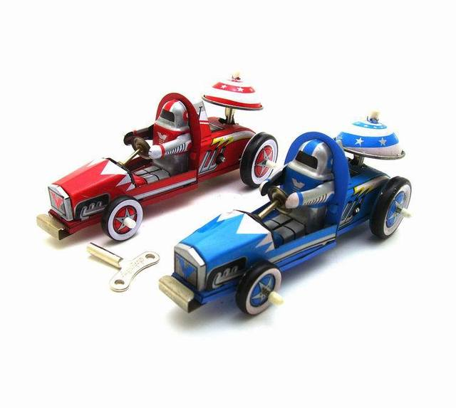 [Funny] Adult Collection Retro Wind up toy Metal Tin F1 racing racer sports car Clockwork toy figures model vintage toy gift