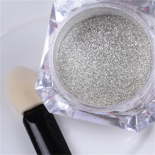 Gold and Silver Holographic Mirror Nail Glitter Powder
