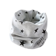 Baby scarf children's 100% cotton scarf autumn spring New style star bird anchor boat pattern boys girls kids scarf-collars(China)